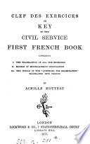 The civil service first French book   With  Clef des exercises or Key