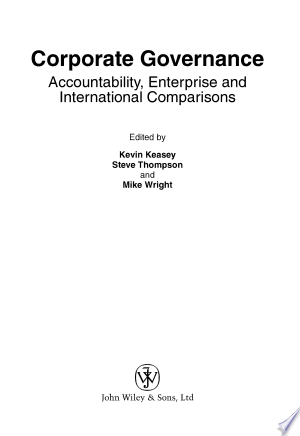 Corporate Governance: Accountability, Enterprise and International Comparisons - ISBN:9780470870310