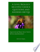 A Level Biology Multiple Choice Questions And Answers Mcqs