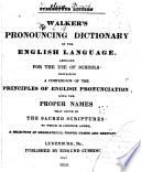 Walker s Pronouncing Dictionary of the English Language