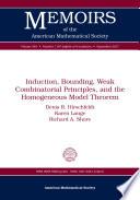 Induction  Bounding  Weak Combinatorial Principles  and the Homogeneous Model Theorem