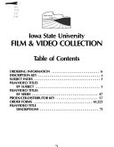 Iowa State University Film Video Collection 1988 1990