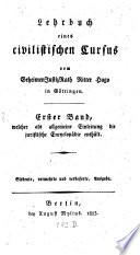 Lehrbuch der juristischen Encyclopädie