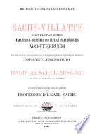 Sachs Villatte enzyklop  disches franz  sischdeutsches und deutsch franz  sisches W  rterbuch