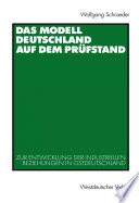 Das Modell Deutschland auf dem Prüfstand