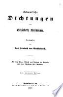 S  mmtliche Gedichte von E  K  Herausgegeben von K  F  v  Grossheinrich      Dritte Auflage
