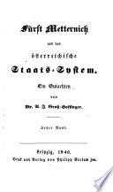 Fürst Metternich und das österreichische Staats-System