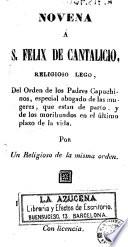 Novena a S  F  lix de Cantalicio  religioso lego