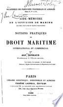 Aide-memoire de l'officier de marine ...