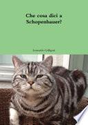 Che cosa dici a Schopenhauer?