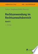 Jungbauer/Natterer, Rechtsanwendung im Rechtsanwaltsber. II
