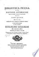 Biblioteca picena  o sia notizie istoriche delle opere e degli scrittori piceni      Ga L