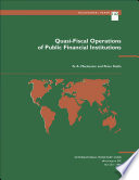 Quasi Fiscal Operations Of Public Financial Institutions