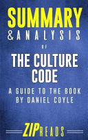 Summary And Analysis Of The Culture Code