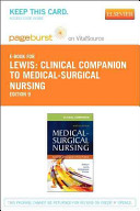 Clinical Companion to Medical Surgical Nursing Pageburst on VitalSource Access Code