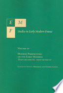 Modern Perspectives on the Early Modern