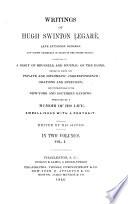 Writings Of Hugh Swinton Legar