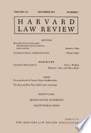 Harvard Law Review: Volume 131, Number 2 - December 2017