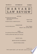 Harvard Law Review: Volume 131, Number 2 - December 2017