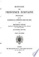 Histoire des principaux   crivains francais