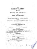 The cabinet-makers London book of prices, and designs of cabinet-work in perspective, by the London society of cabinet-makers