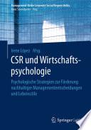 CSR und Wirtschaftspsychologie