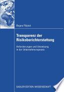 Transparenz der Risikoberichterstattung