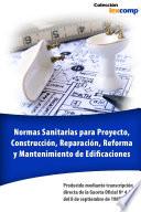 Normas Sanitarias para Proyecto  Construcci  n  Reparaci  n  Reforma y Mantenimiento de Edificaciones