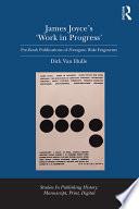 download ebook james joyce's 'work in progress' pdf epub