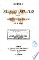 Histoire des sciences occultes