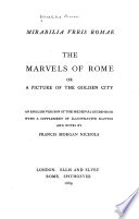 The Marvels Of Rome Or A Picture Of The Golden City