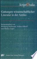 Gattungen wissenschaftlicher Literatur in der Antike