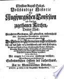 Vollständige Historie der Augspurgischen Confession & derselben Apologie