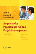 Angewandte Psychologie Für Das Projektmanagement