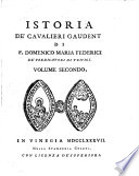 Istoria de  cavalieri Gaudenti