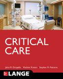 Lange Critical Care Book