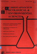 Current Advances in Ecological   Environmental Sciences