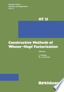 Constructive Methods of Wiener Hopf Factorization