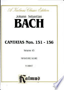 Cantatas No. 151-156