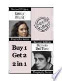 Celebrity Biographies   The Amazing Life of Emily Blunt and Benicio Del Toro   Famous Stars