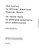 The lyrics in African American popular music