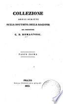 Collezione degli scritti sulla dottrina della ragione