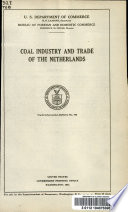 Coal Industry and Trade in the Netherlands     Book PDF