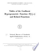 Tables Of The Confluent Hypergeometric Function F N 2 1 2 X And Related Functions