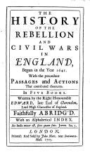 download ebook the history of the rebellion and civil wars in england, begun in the year 1641. with the precedent passages and actions that contributed thereunto. in five books ... faithfully abridg\'d. with an alphabetical index pdf epub
