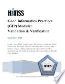 Good Informatics Practices  GIP  Module  Validation   Verification