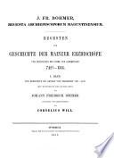 Regesta archiepiscoporum Maguntinensium