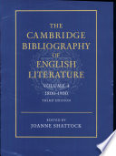 The Cambridge Bibliography Of English Literature 1800 1900