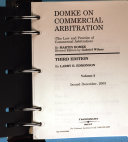 Domke on commercial arbitration (The law and practice of commercial arbitration)