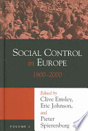 Social Control in Europe: 1800-2000